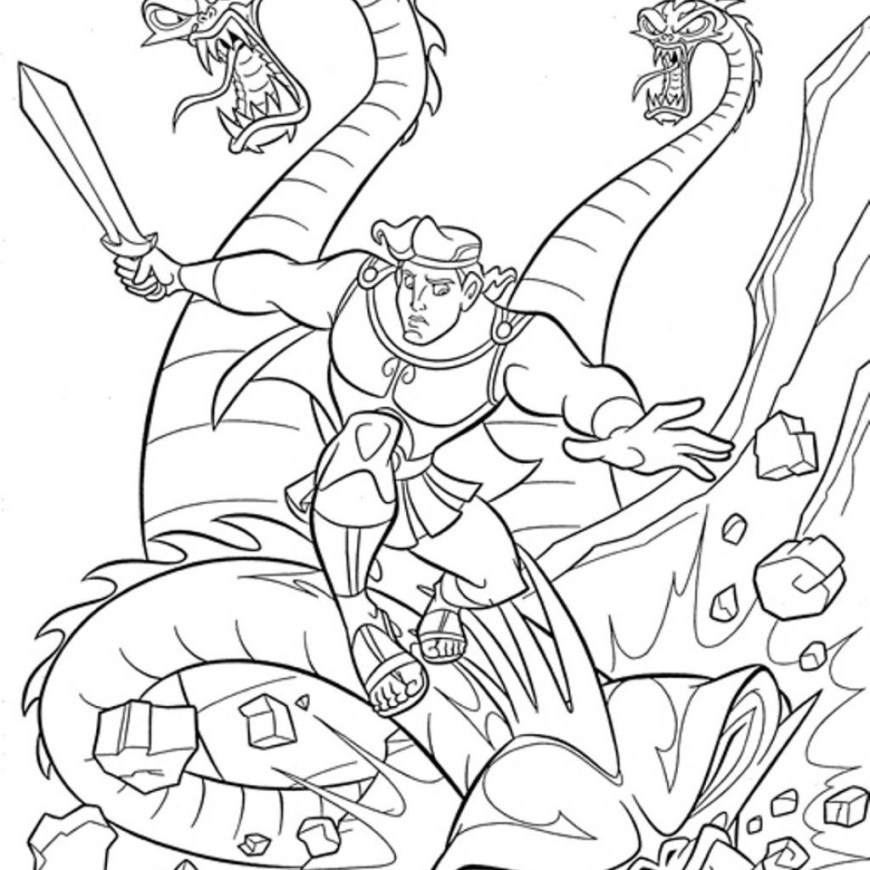 Hercules Coloring Pages Simple Thanksgiving Hercules Coloring Pages 3 Part 2 Easy Pictures