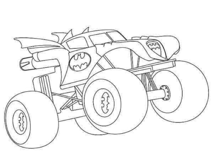 Hot Wheels Coloring Pages Hot Wheels Coloring Pages Monster Truck For Trucks On Coloring Pages