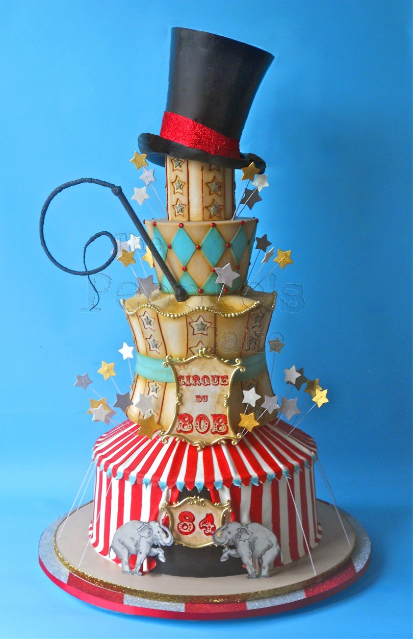 Huge Birthday Cake A Huge Circus Themed Birthday Cake Almost Four Feet Tall With