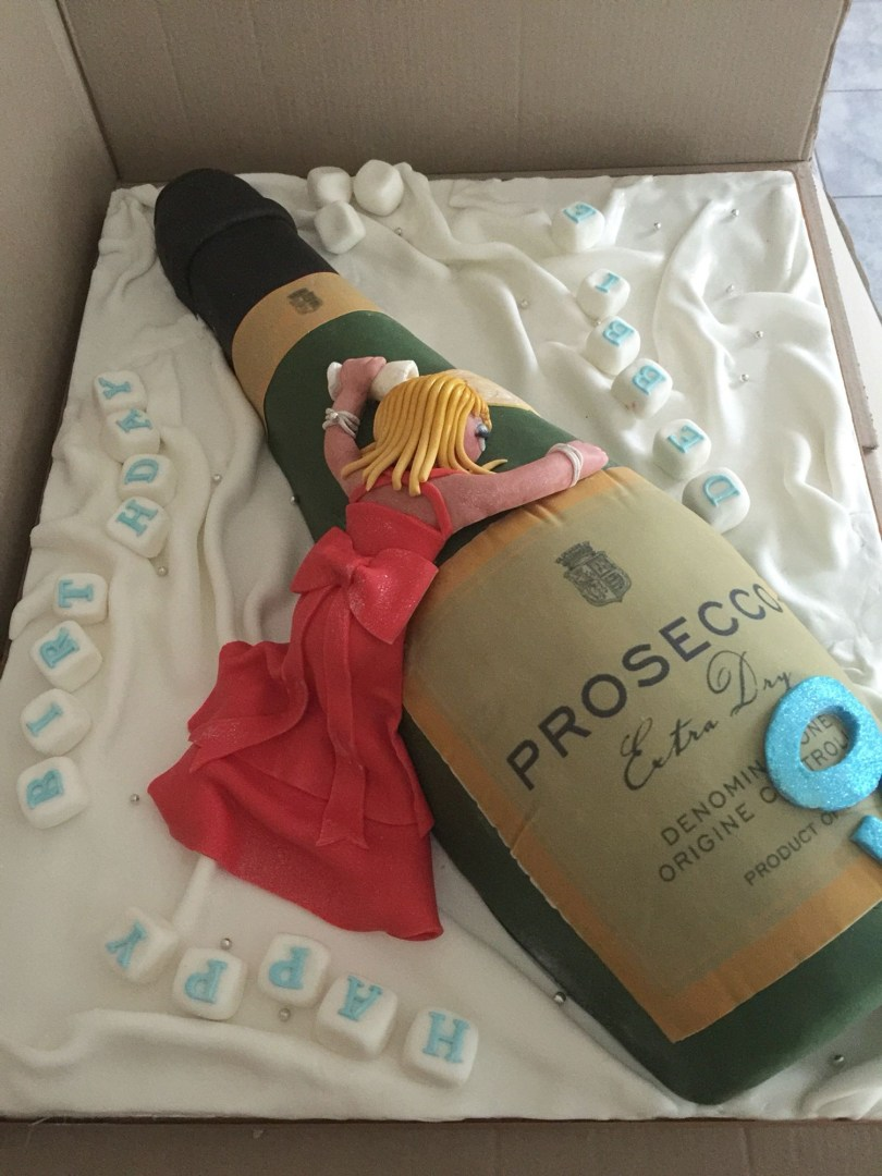 Huge Birthday Cake Huge Prosecco Magnum Bottle Birthday Cake 50thbirthday Pinterest