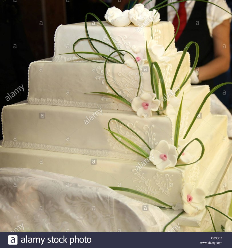 Huge Birthday Cake Huge Wedding Cake Or Birthday Cake English Style Stock Photo