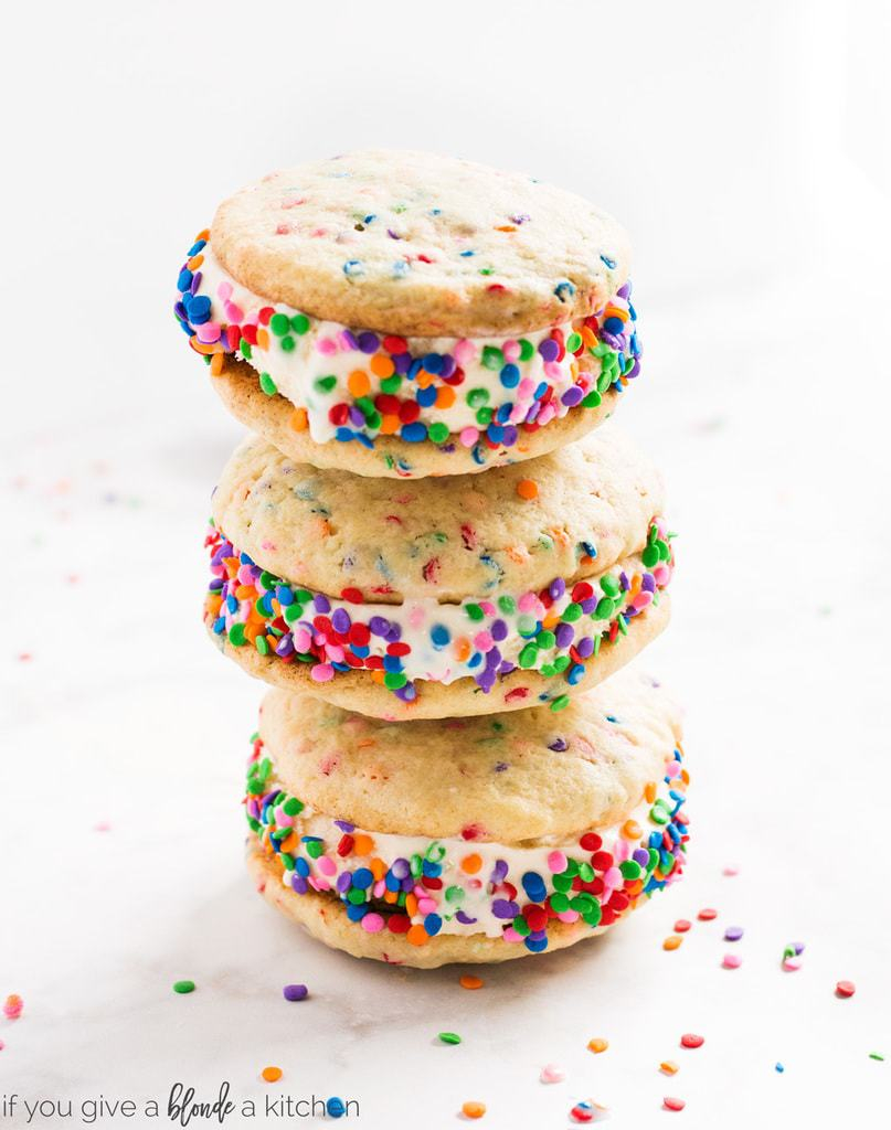 Ice Cream Birthday Cake Birthday Cake Ice Cream Sandwiches If You Give A Blonde A Kitchen