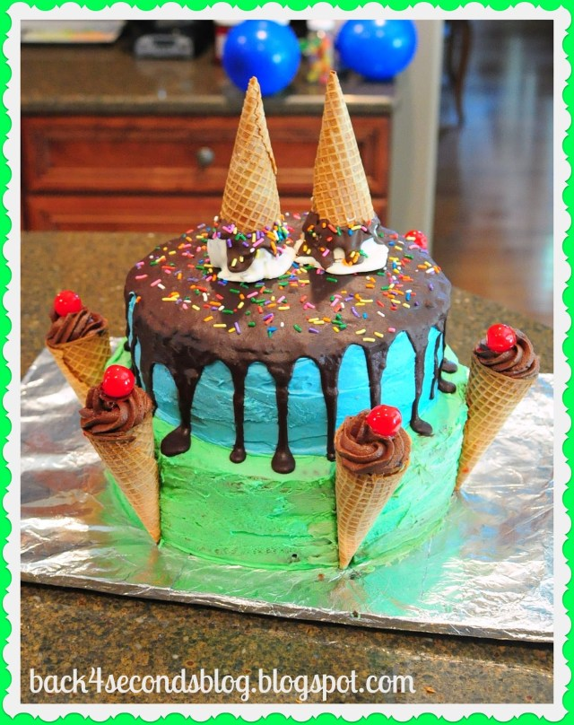 Ice Cream Birthday Cake Ice Cream 1st Birthday Bash And Link Party Back For Seconds