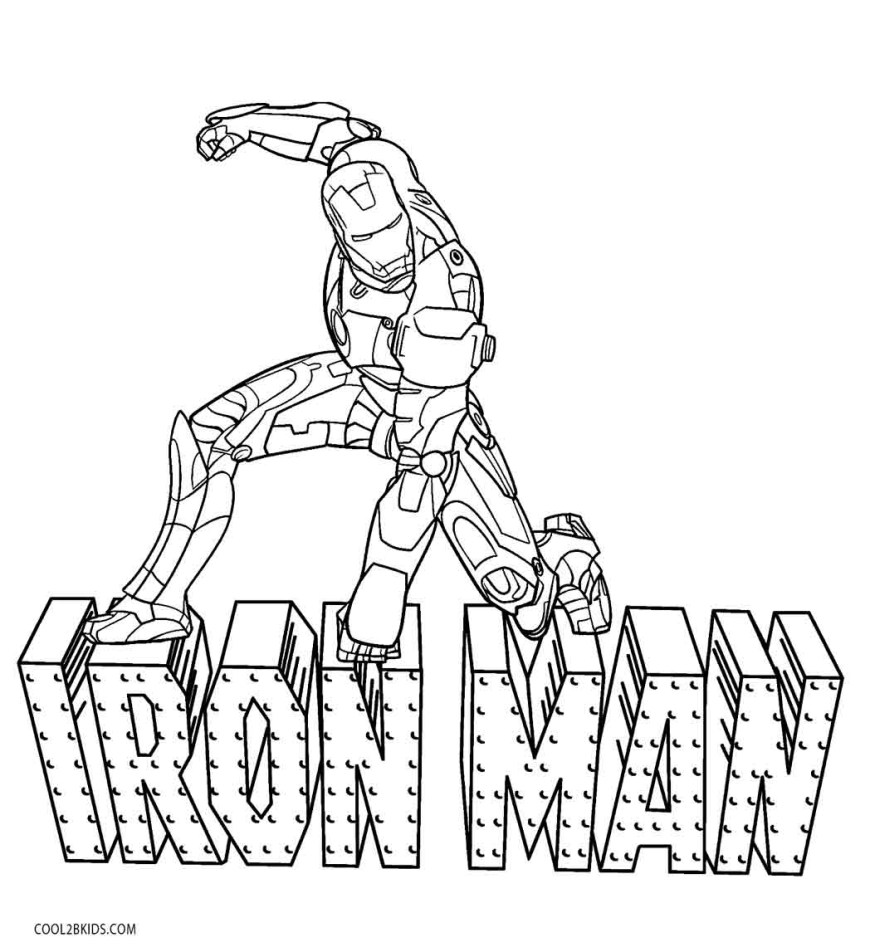 Iron Man Coloring Page Free Printable Iron Man Coloring Pages For Kids Cool2bkids