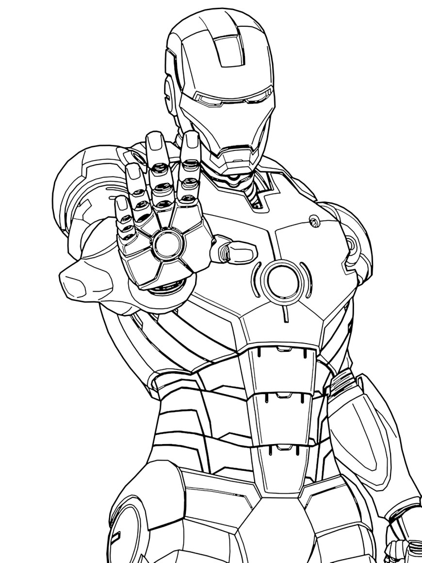 Iron Man Coloring Page Iron Man Coloring Page Coloring Pages For Kids