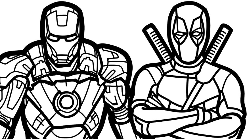 Iron Man Coloring Page Ironman Deadpool Free Coloring Page Iron Man Movies Best Of