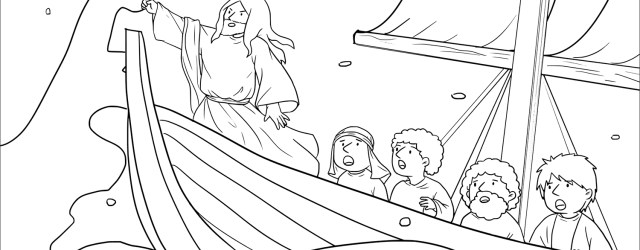 Jesus Calms The Storm Coloring Page Jesus Calms The Storm Mark 435 41 Coloring Page Free Printable