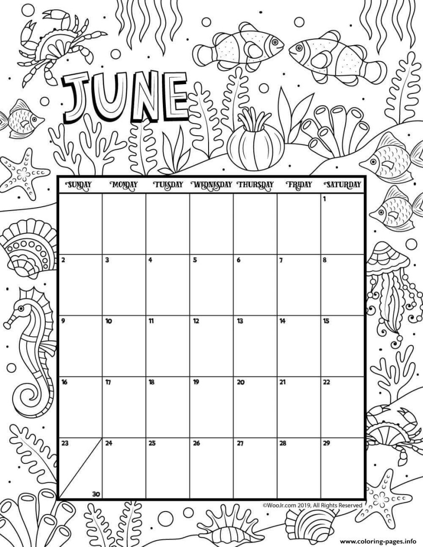 June Coloring Pages June Calendar Month Coloring Pages Printable