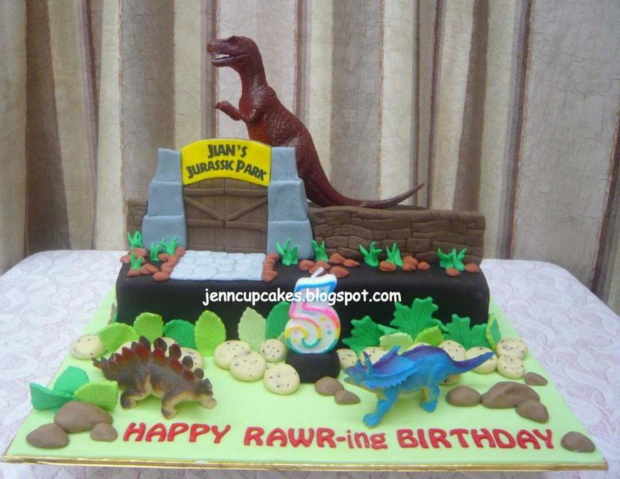 Jurassic Park Birthday Cake Jenn Cupcakes Muffins Jurassic Park World Cake