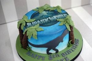Jurassic Park Birthday Cake Jurassic World 8th Birthday Cake Bakealous