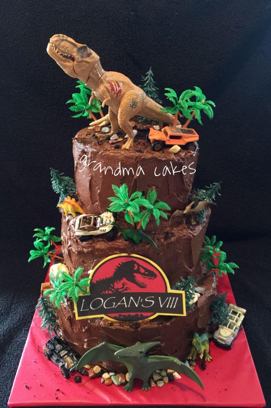 Jurassic Park Birthday Cake Jurassic World Park Cake Cakes Pinterest Jurassic Park Party