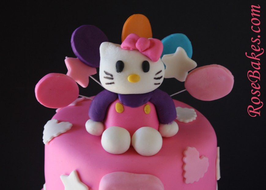 Kitty Birthday Cake Hello Kitty Birthday Cake Top Close Rose Bakes