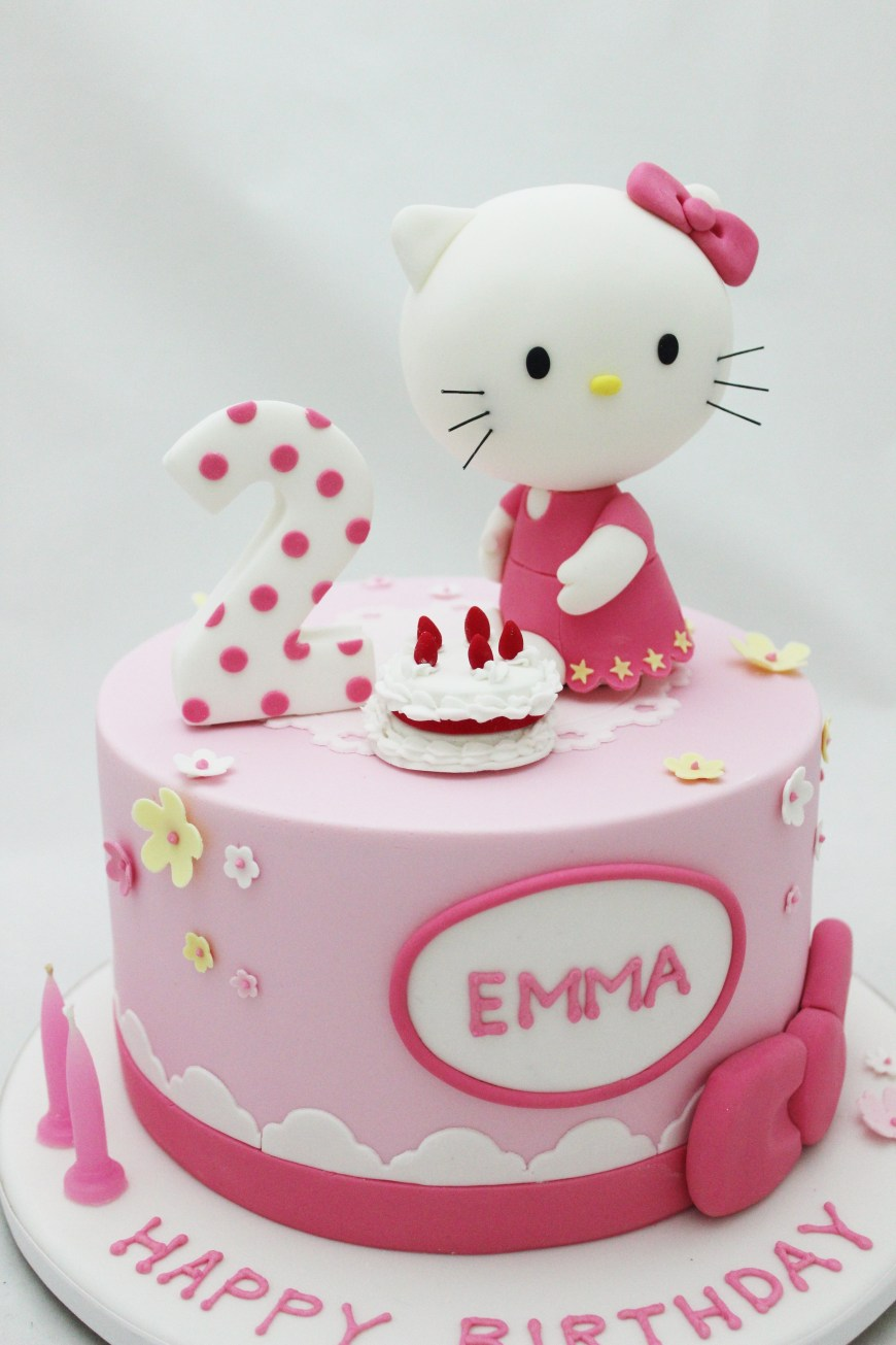 Kitty Birthday Cake Hello Kitty Cake For 2nd Girls Birthday Happy Birthday In 2018