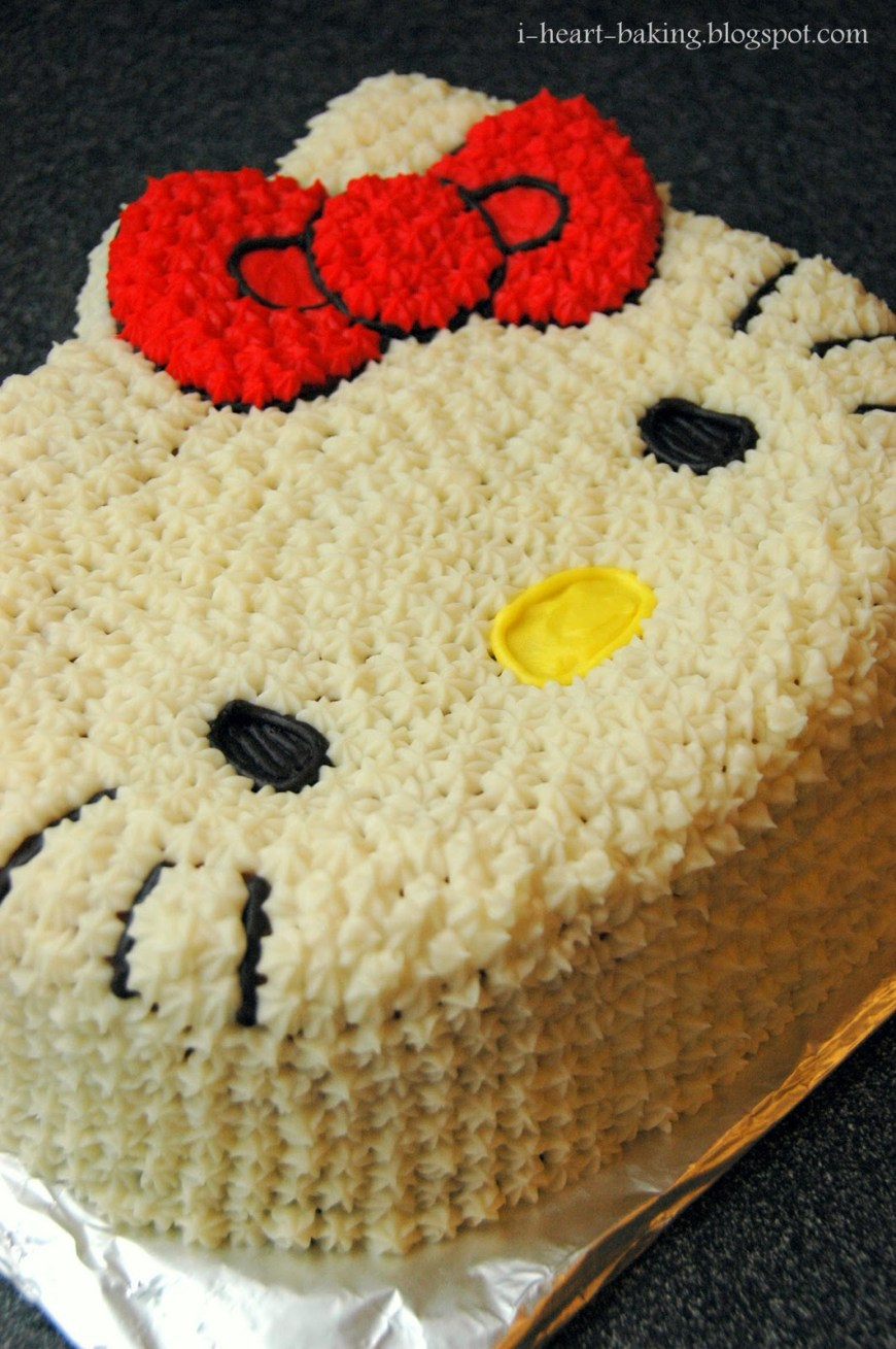 Kitty Birthday Cake I Heart Baking Hello Kitty Birthday Cake For Melodie