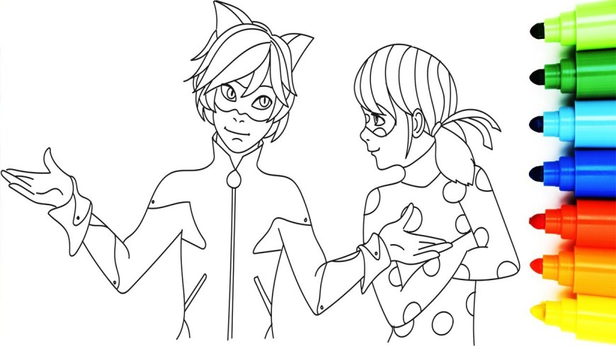 Ladybug And Cat Noir Coloring Pages Coloring Pages Of Ladybug And Cat Noir