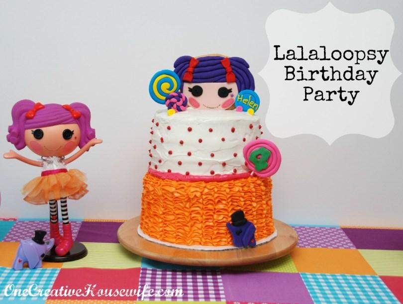 Lalaloopsy Birthday Cake One Creative Housewife Lalaloopsy Birthday Party
