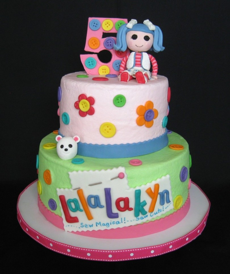 Lalaloopsy Birthday Cake The Blue Haired Lalaloopsy Doll Is The Birthday Girls Favorite I Did