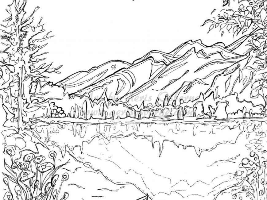 Landscape Coloring Pages Landscape Coloring Pages To Print At Getdrawings Free For