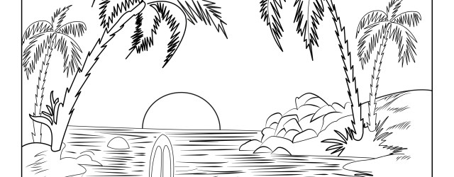 Landscape Coloring Pages Landscapes Coloring Pages For Adults