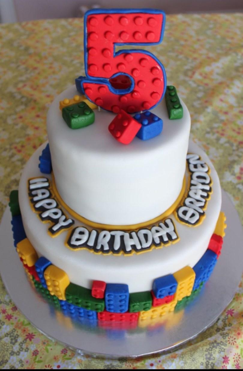 Lego Birthday Cake Lego Birthday Cake Idea Like Bricks Around Base And Scattered On