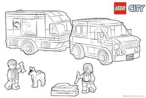 Lego City Coloring Pages Lego City Coloring Pages Van Caravan Free Printable Coloring Pages