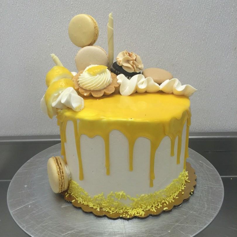 Lemon Birthday Cake Lemon Drip Cake As Delicate As Sugar Pinterest Drip Cakes