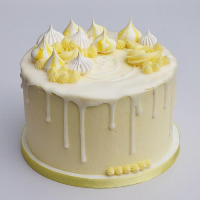 Lemon Birthday Cake Lemon Meringue Drip Cake Cake Designs Cake Drip Cakes Birthday