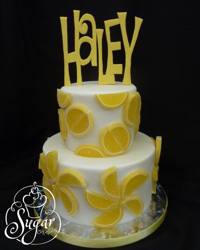 Lemon Birthday Cake Lemon Slice Birthday Cake Im Sure Having Fun With These G Flickr