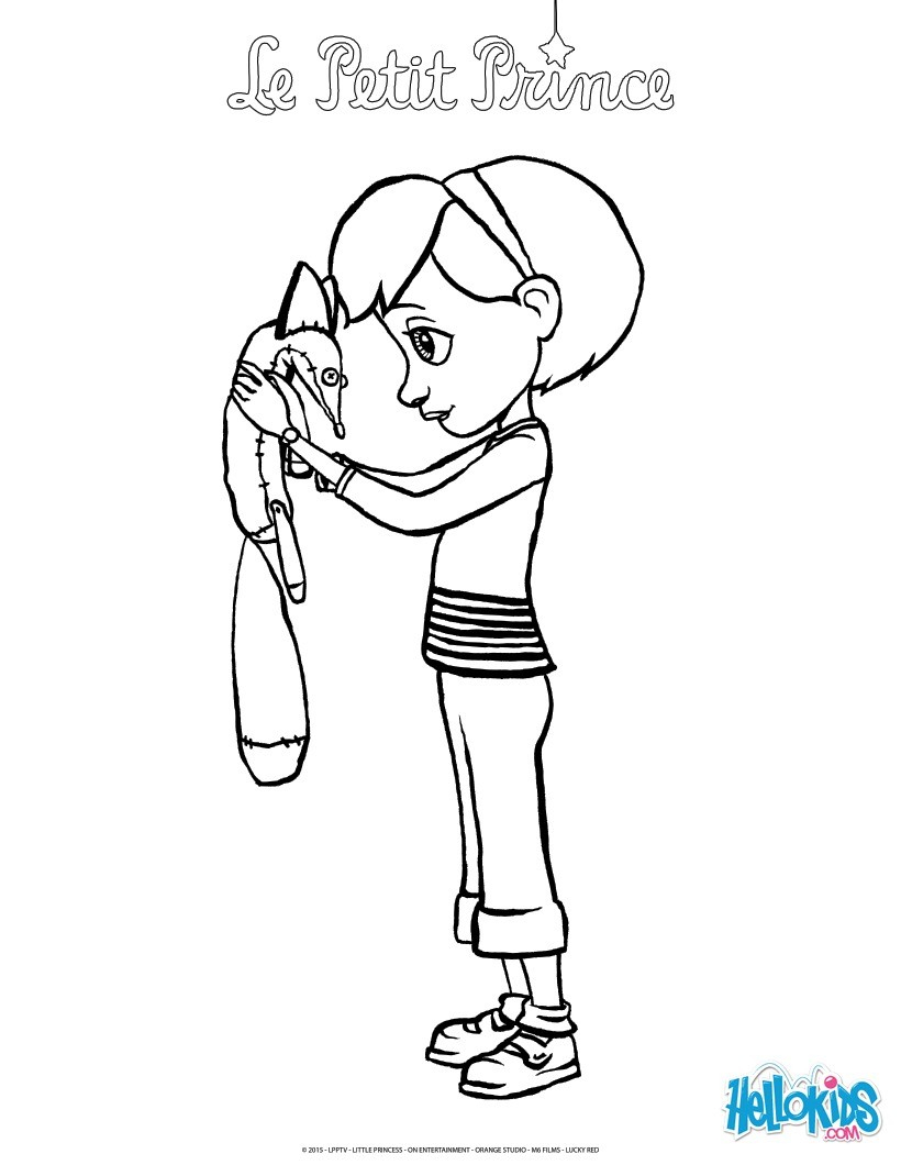 Little Girl Coloring Pages The Little Girl And The Fox Coloring Pages Hellokids
