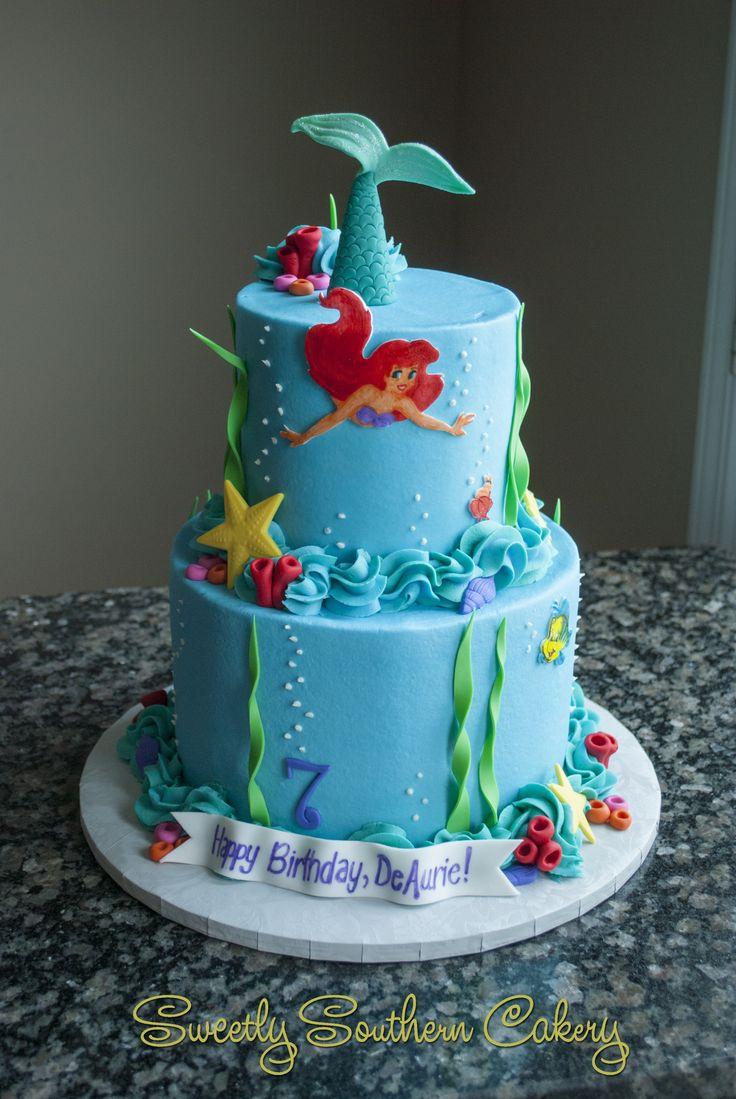 Little Mermaid Birthday Cake Ariel Birthday Cakes