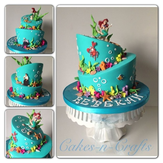 Little Mermaid Birthday Cake Little Mermaid Birthday Cake How To Decorate It Cambrias 4th Bday