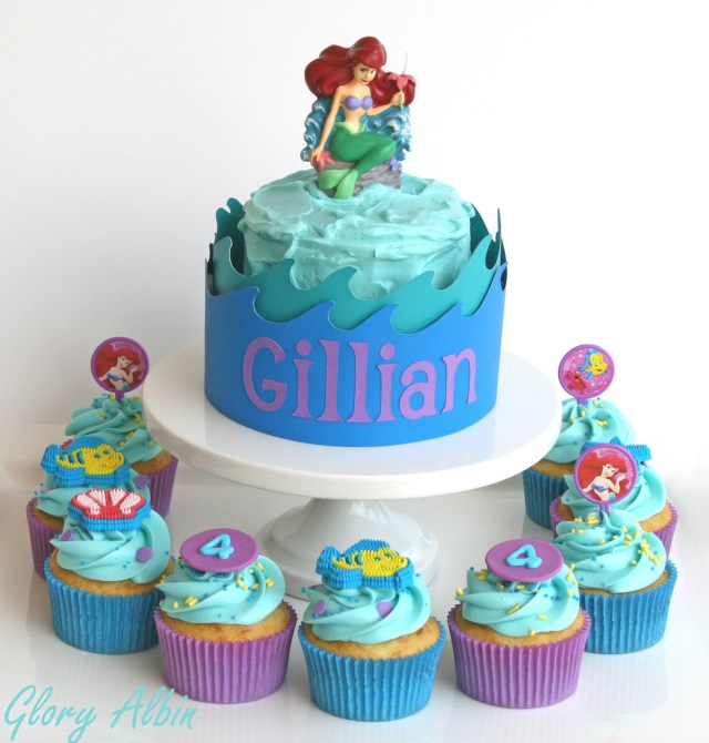 Little Mermaid Birthday Cake Little Mermaid Birthday Cakes Cupcakes And Mini Cake For A Flickr