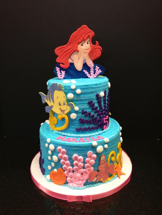 Little Mermaid Birthday Cake Pin Amy Rezendez On Lil Mermaid Mermaid Birthday Cakes Little