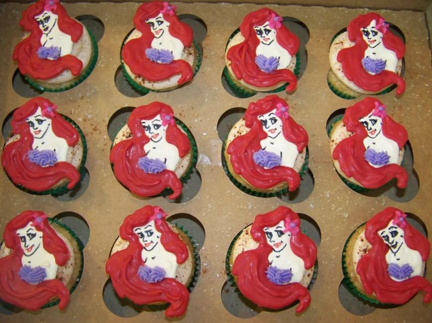 Little Mermaid Birthday Cake Plumeria Cake Studio Ariel Little Mermaid Birthday Cupcakes