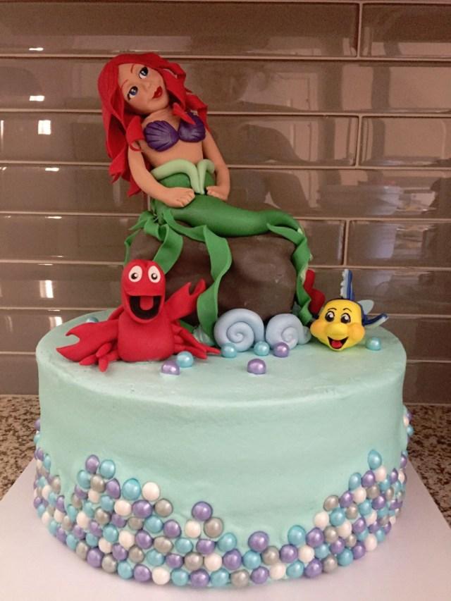 Little Mermaid Birthday Cake The Little Mermaid Birthday Cake Cakecentral