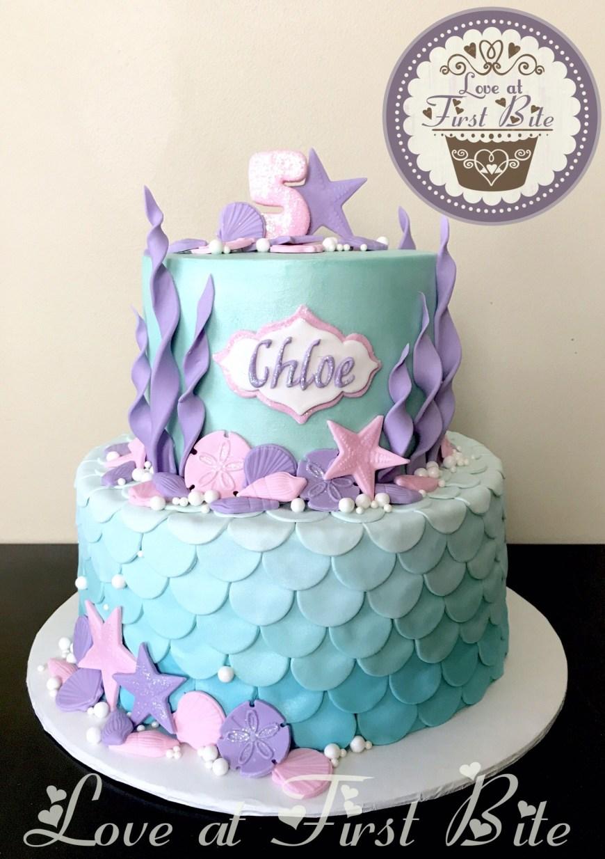 Little Mermaid Birthday Cake Under The Sea Mermaid Cake Childrens Birthday Cakes In 2019