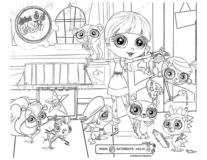 Littlest Pet Shop Coloring Pages Littlest Pet Shop Coloring Pages Free Lovely Pet Coloring Pages