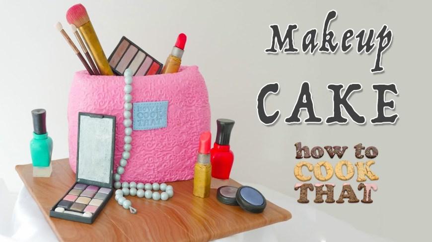 Makeup Birthday Cake Makeup Cake How To Cook That Ann Reardon Make Up Birthday Cake Youtube