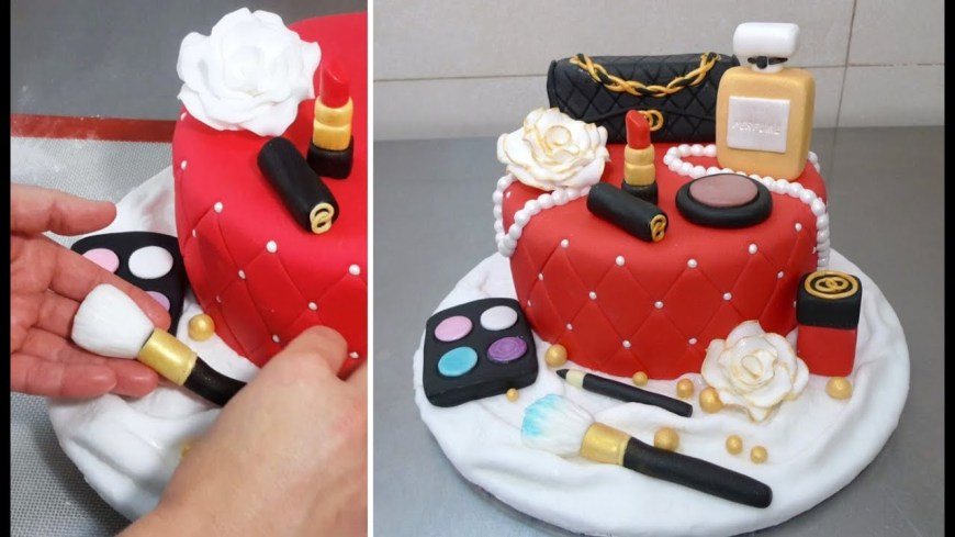 Makeup Birthday Cake Makeup Fashion Cake How To Make Torta Maquillajes