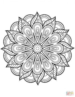 Mandala Coloring Page Coloring Page Floral Mandalas Coloring Pages Free Page Mandala