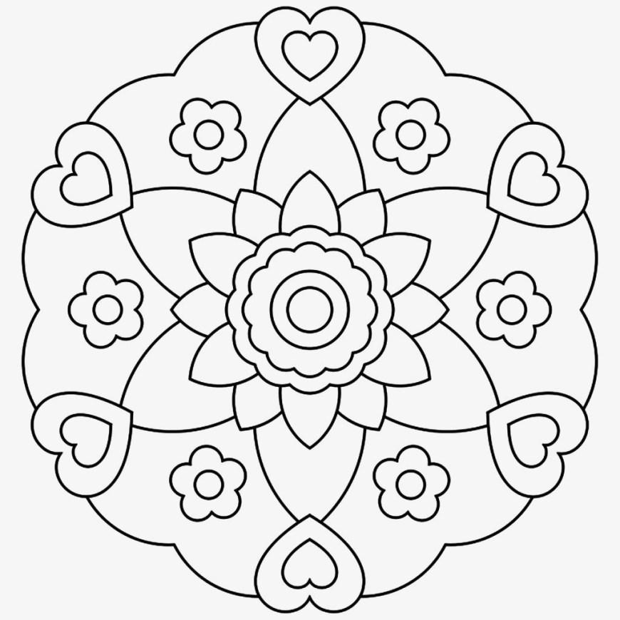 Mandalas Coloring Pages Free Printable Mandalas Coloring Pages Glandigoart