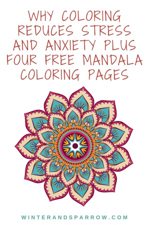 Mandalas Coloring Pages Why Coloring Reduces Stress Anxiety 4 Free Mandala Coloring Pages