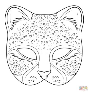 Mask Coloring Pages Cheetah Mask Coloring Page Free Printable Coloring Pages
