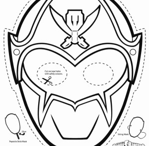 Mask Coloring Pages Power Ranger Mask Coloring Pages At Getdrawings Free For