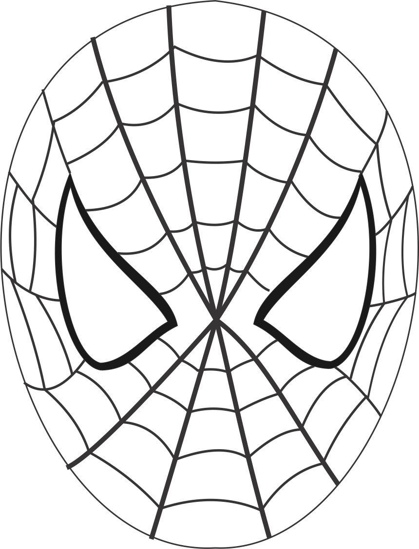 Mask Coloring Pages Spiderman Mask Printable Coloring Page For Kids
