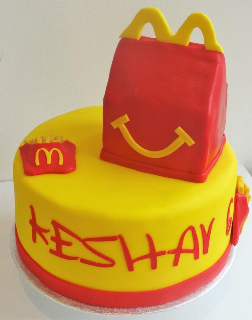 Mcdonalds Birthday Cake Birthday Cake Happy Meal Mcdonalds Arthrogreyposis Pinterest