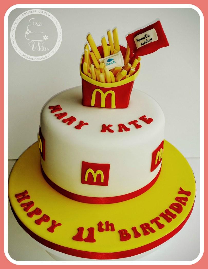 Mcdonalds Birthday Cake Mcdonalds Chips Cake Cca Willis Sligo Cca Willis Girls
