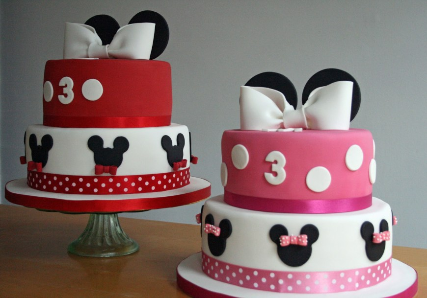 Mickey Birthday Cake Lauralovescakes Minnie Mickey Birthday Cakes