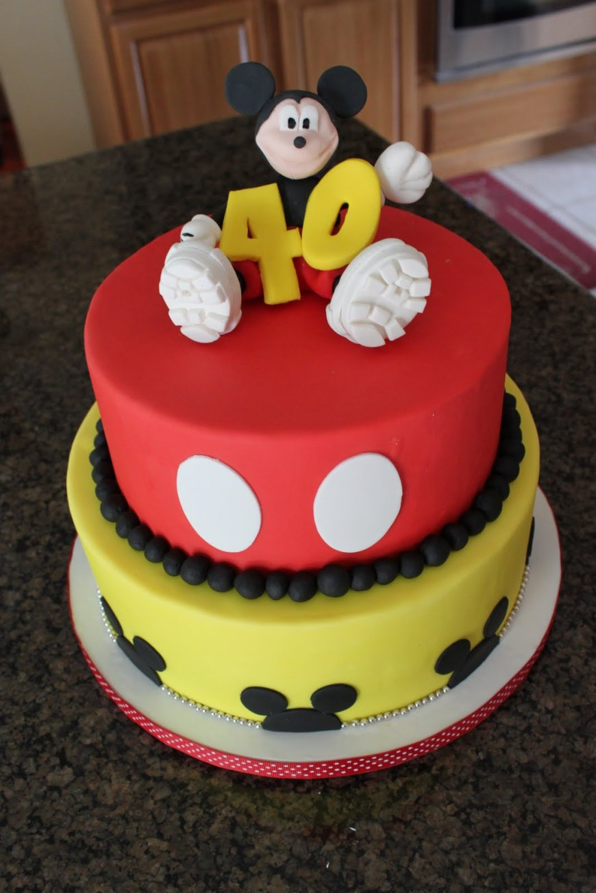 Mickey Birthday Cake Mickey Mouse Cake Decoration Ideas Little Birthday Cakes