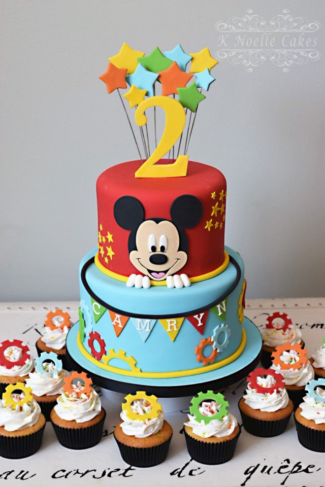 Mickey Birthday Cake Mickey Mouse Clubhouse Theme Cake K Noelle Cakes Cakes K